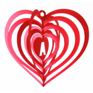heart spinner 3d decoration