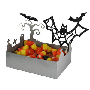 halloween batty graveyard treat dish