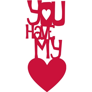 'you have my heart' phrase