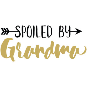baby t-shirt: spoiled by grandma
