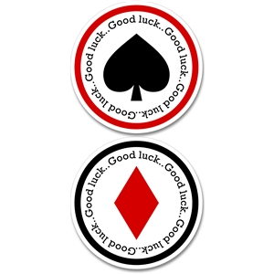 spade - diamond good luck tags