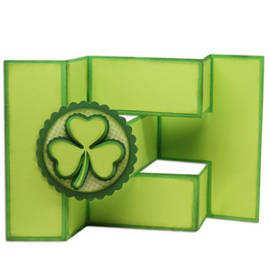 layered shamrock tri-shutter card