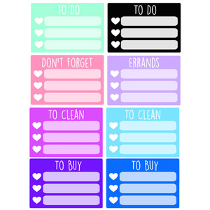 heart box checklists