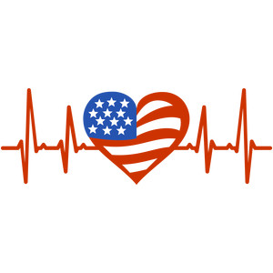 love flag heartbeat