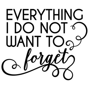 everything i do not want to forget quote