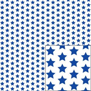 blue on white star pattern