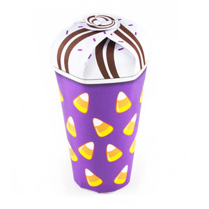 candy corn halloween treat cup
