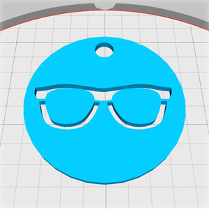 nerd glasses medallion