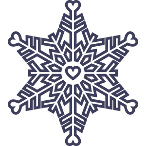 outlined snowflake