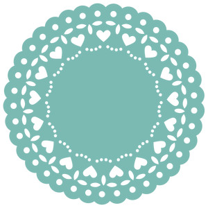 heart lace doily
