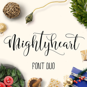 mighty heart font duo