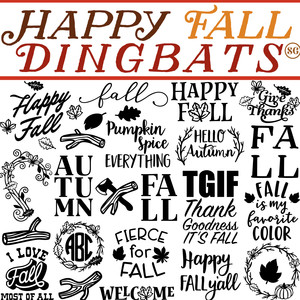 sg happy fall dingbats