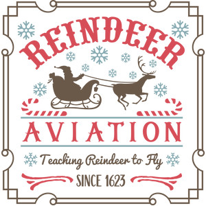 reindeer aviation sign