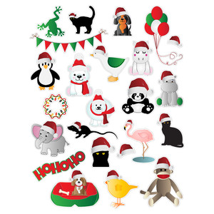 santa critters planning stickers
