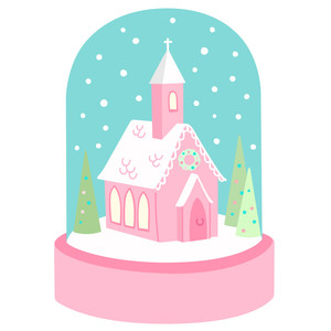 church snowglobe