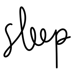 sleep word art