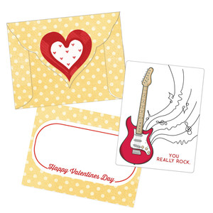 valentine card - you really rock