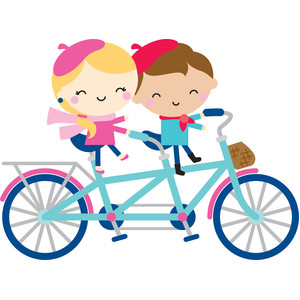 tandem bike couple