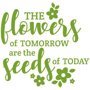 the flowers of tomorrow are the seeds of today