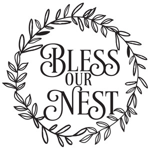 bless our nest wreath