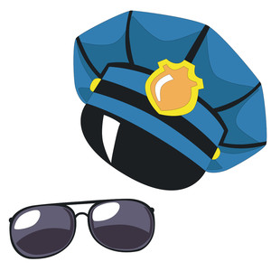 police hat and sunglasses