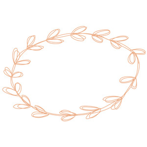 sketched oval wreath
