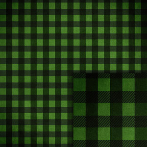 green and black buffalo check background paper-free with purchase