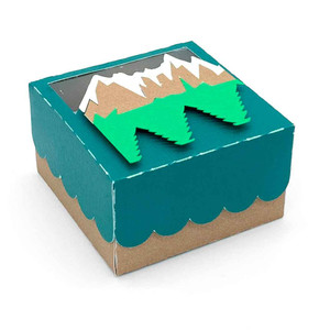 mountain and trees box
