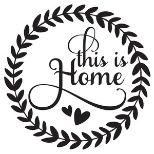 this is home wreath