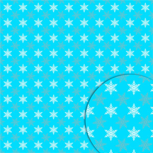 duo snowflakes pattern