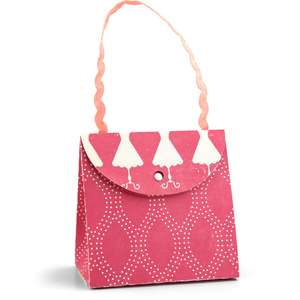 purse with round flap