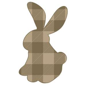 standing plaid bunny