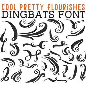 cg cool pretty flourishes dingbats