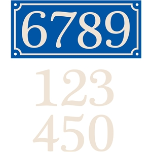 french house sign 4 numbers