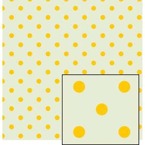 cream and yellow larger polka dot pattern