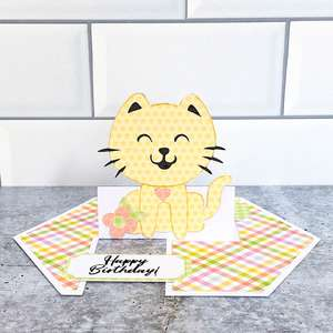 impossible card birthday cat
