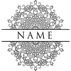autumn mandala title nameplate