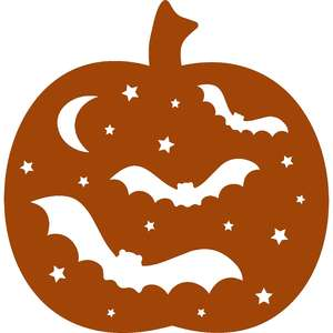 halloween bat pumpkin