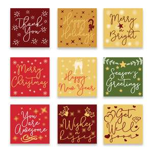 holiday print & cut cards