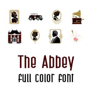 the abbey full color font