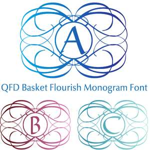 qfd basket flourish monogram font