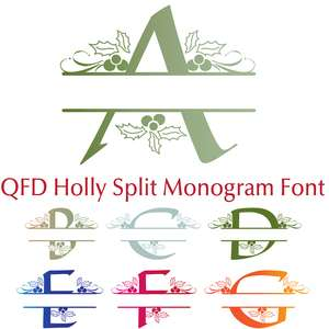 qfd holly split monogram font