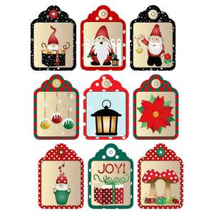 gnome christmas gift tags