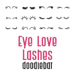 eye love lashes doodlebat