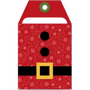 gift card holder tag santa suit
