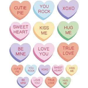 conversation hearts stickers