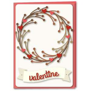 twigs wreath with hearts card