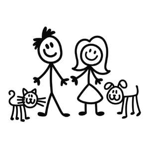 stick family parents and pets