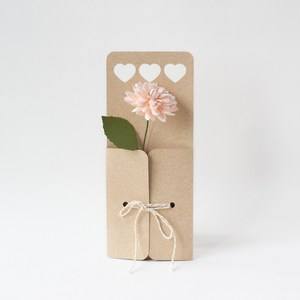 heart flower envelope with string closure by farren celeste