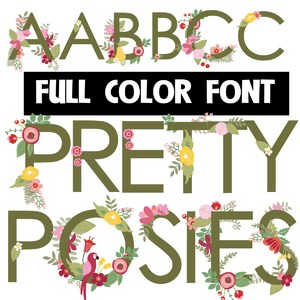 pretty posies too color font
